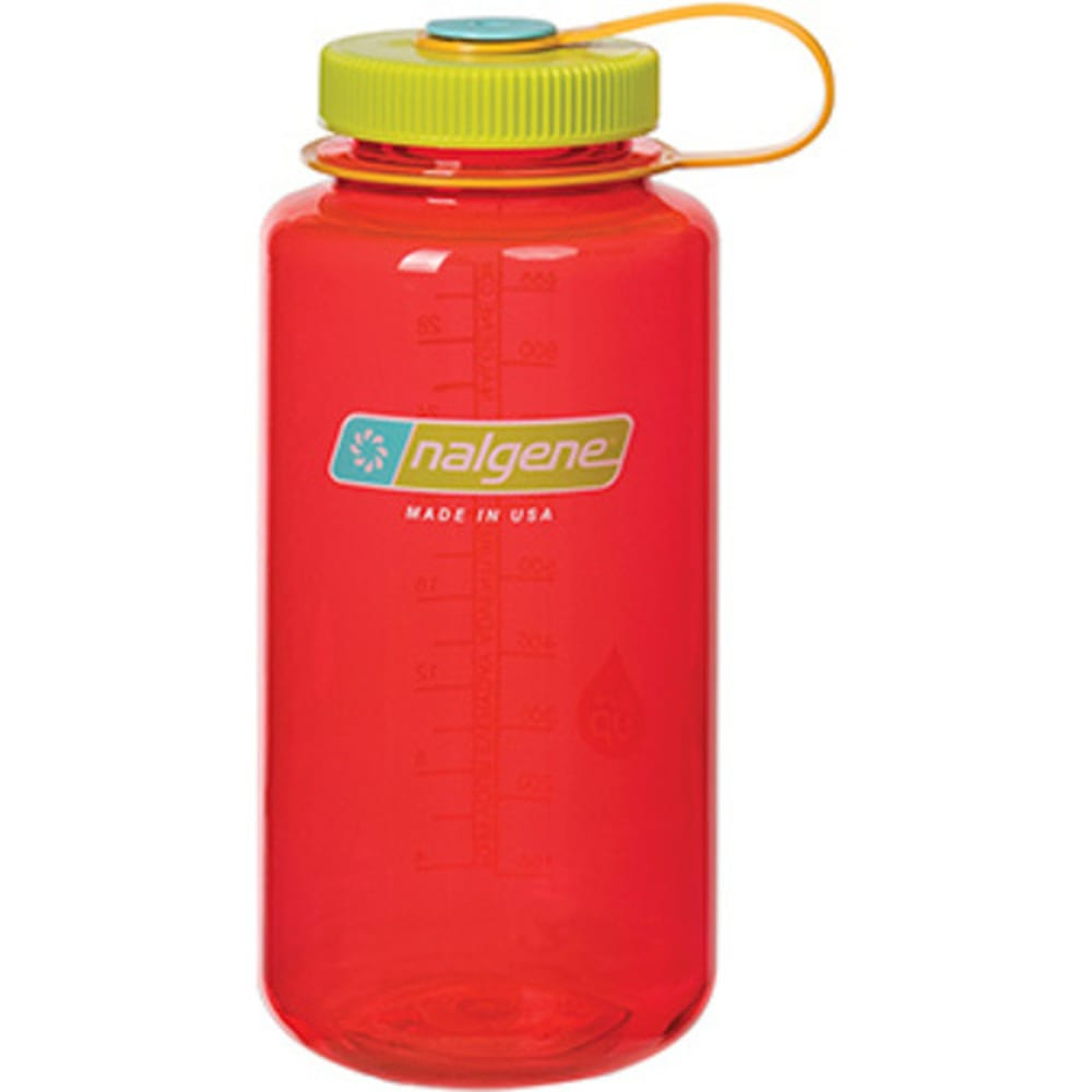 NALGENE 32 oz. Wide Mouth Water Bottle - POMEGRANATE 341851