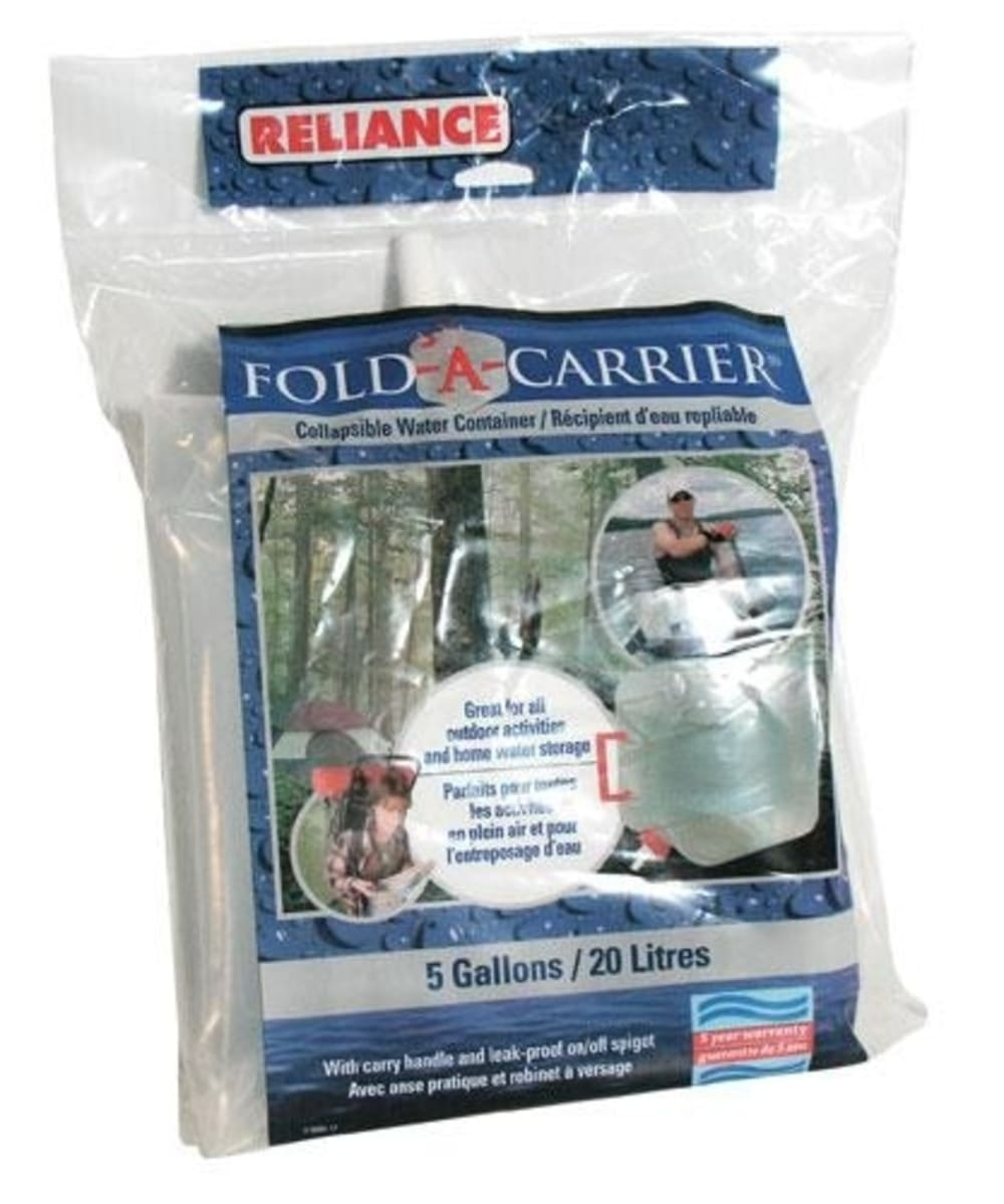 RELIANCE Fold-A-Carrier, 5 Gallons - NATURAL