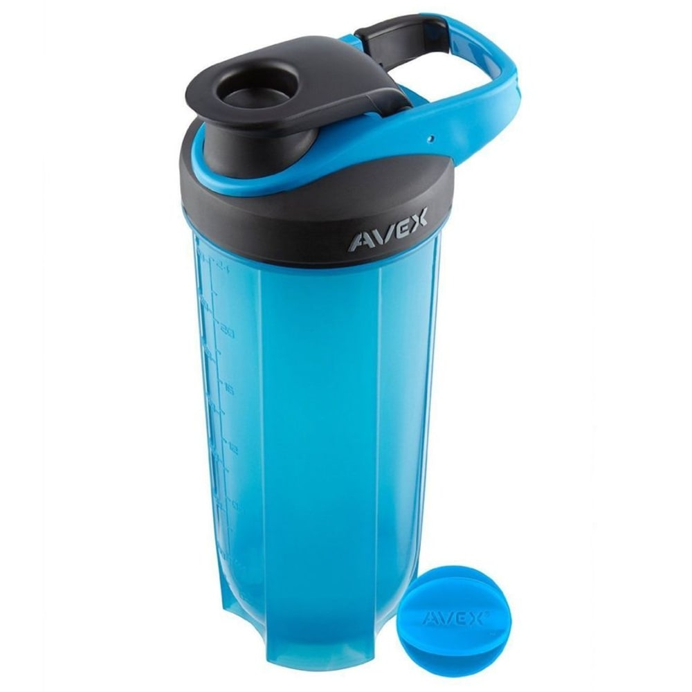 AVEX 28 oz. Mixfit Shaker Bottle, Blue - BLUE/BLK TOP
