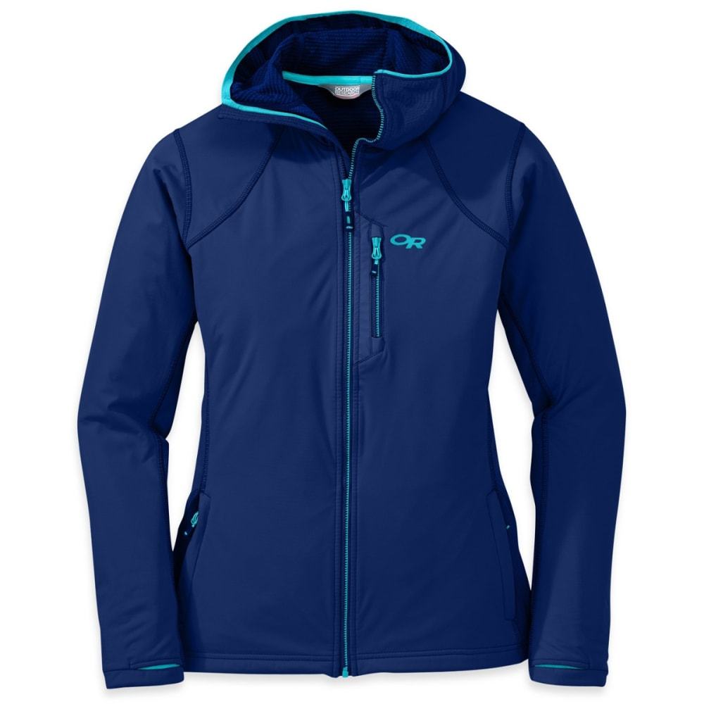 OUTDOOR RESEARCH Women's Centrifuge Hoody - BALTIC/TYPHOON