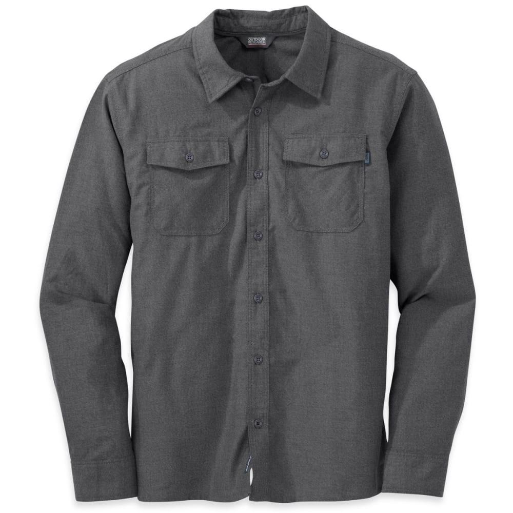 OUTDOOR RESEARCH Men's Gastown Longsleeve Shirt - CHARCOAL