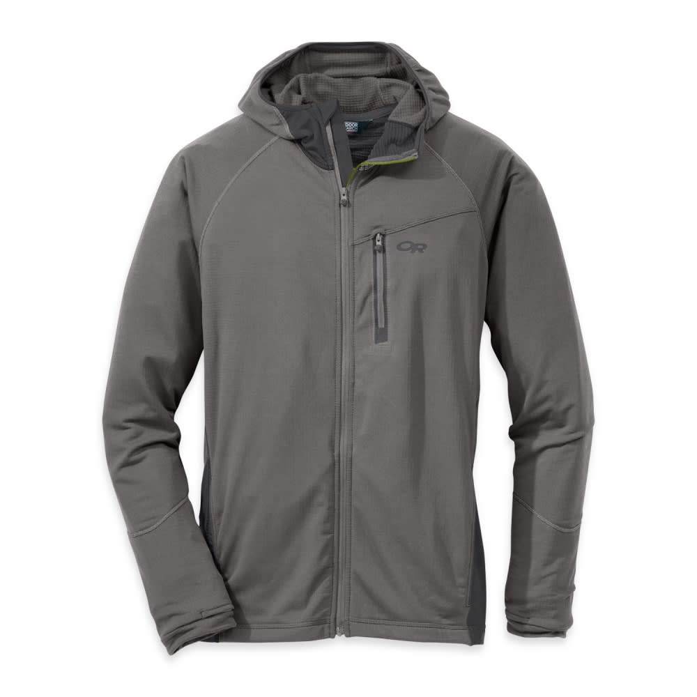 OUTDOOR RESEARCH Men's Transition Hoody - PEWTER/CHARCOAL