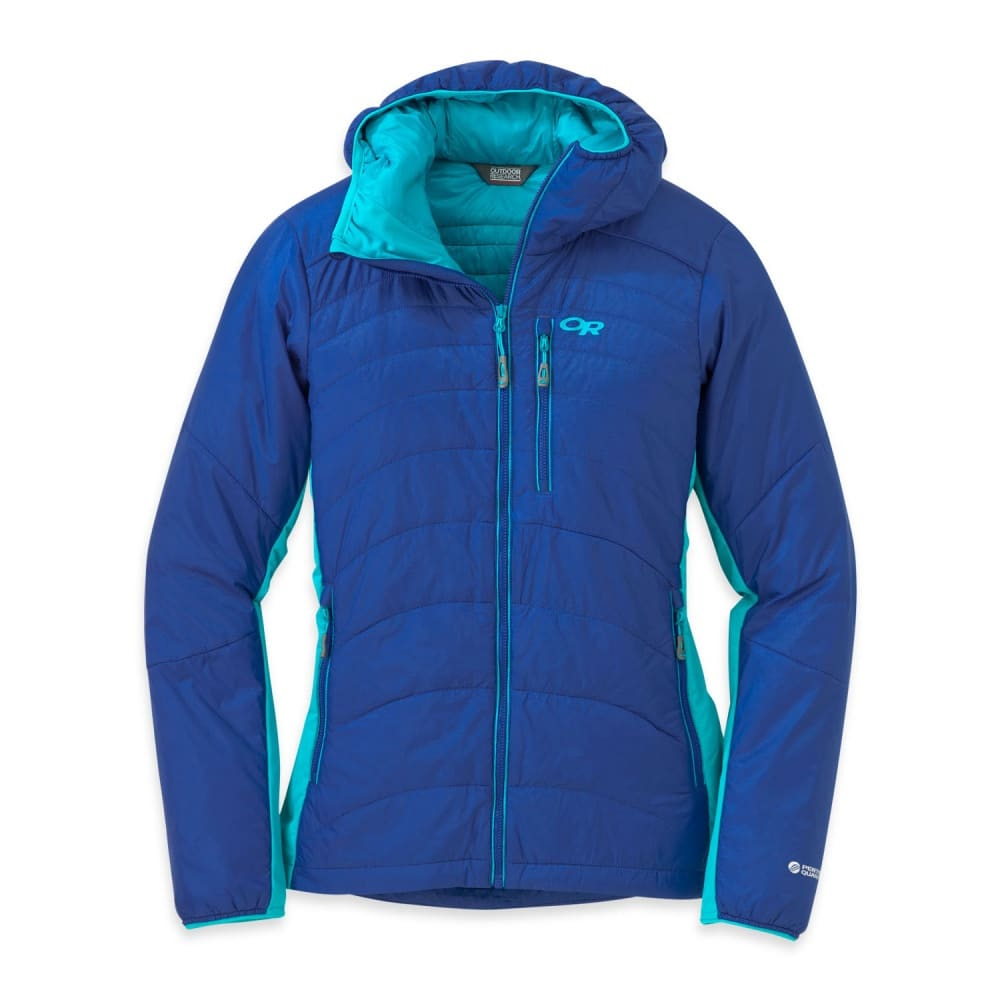 OUTDOOR RESEARCH Women's Cathode Hooded Jacket - BALTIC/TYPHOON