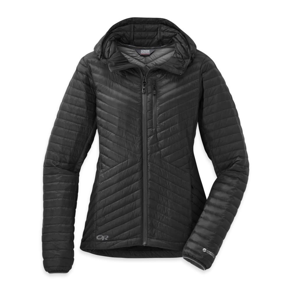 OUTDOOR RESEARCH Women's Verismo Hooded Down Jacket - BLACK