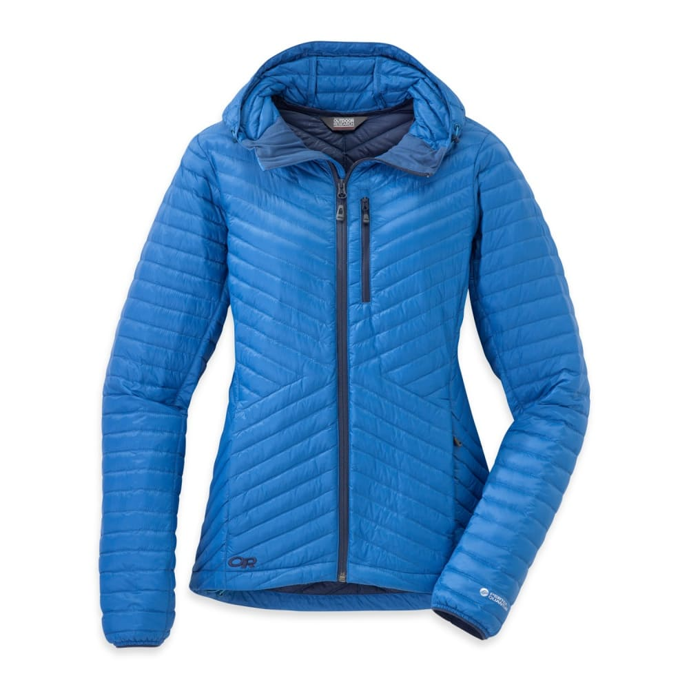 OUTDOOR RESEARCH Women's Verismo Hooded Down Jacket - CORNFLOWER