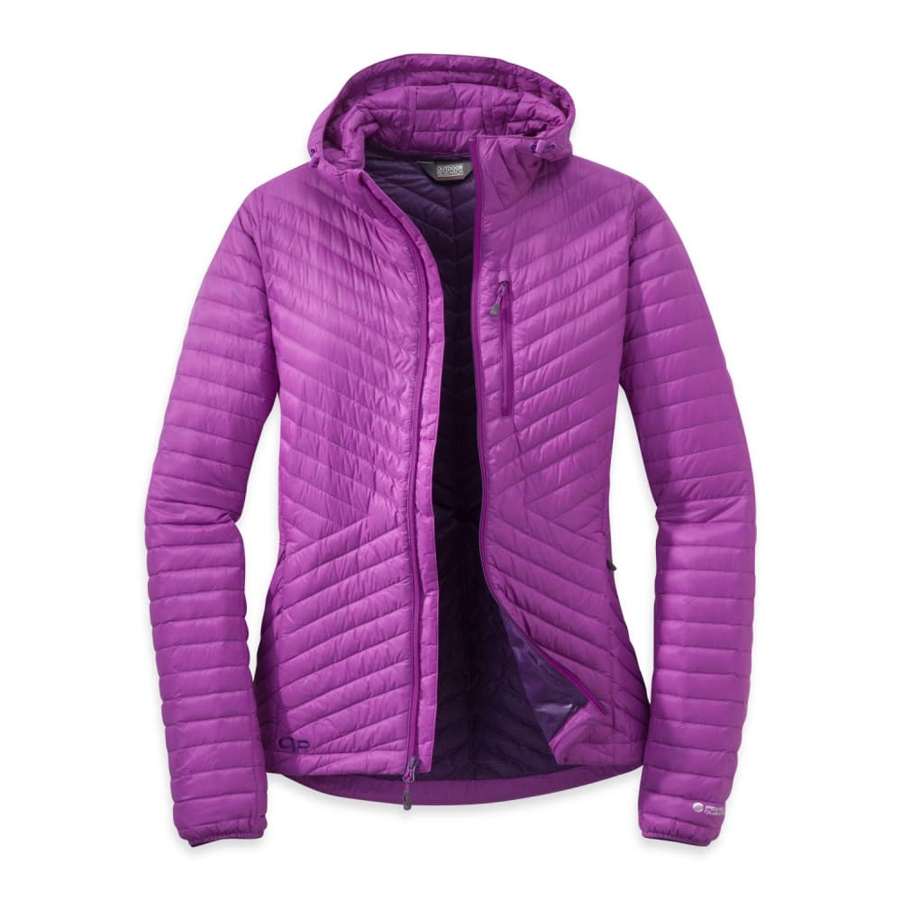 OUTDOOR RESEARCH Women's Verismo Hooded Down Jacket - ULTRAVIOLET