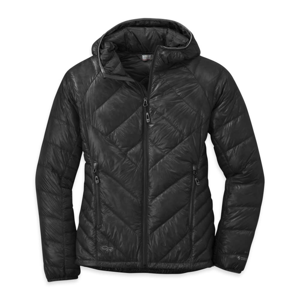 OUTDOOR RESEARCH Women's Filament Hooded Down Jacket - BLACK