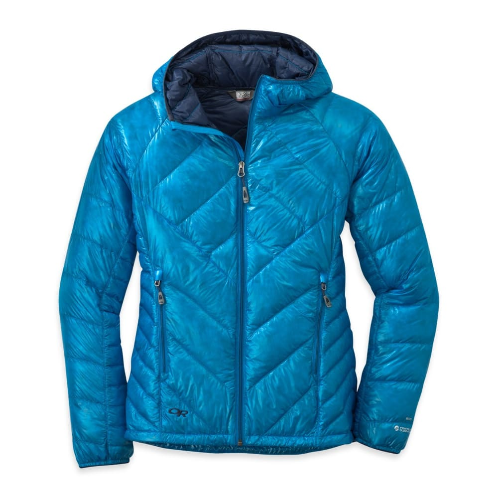 OUTDOOR RESEARCH Women's Filament Hooded Down Jacket - HYDRO/NIGHT