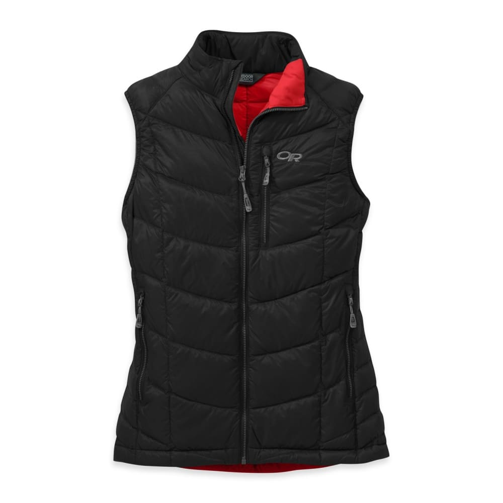 OUTDOOR RESEARCH Women's Sonata Down Vest - BLACK/FLAME