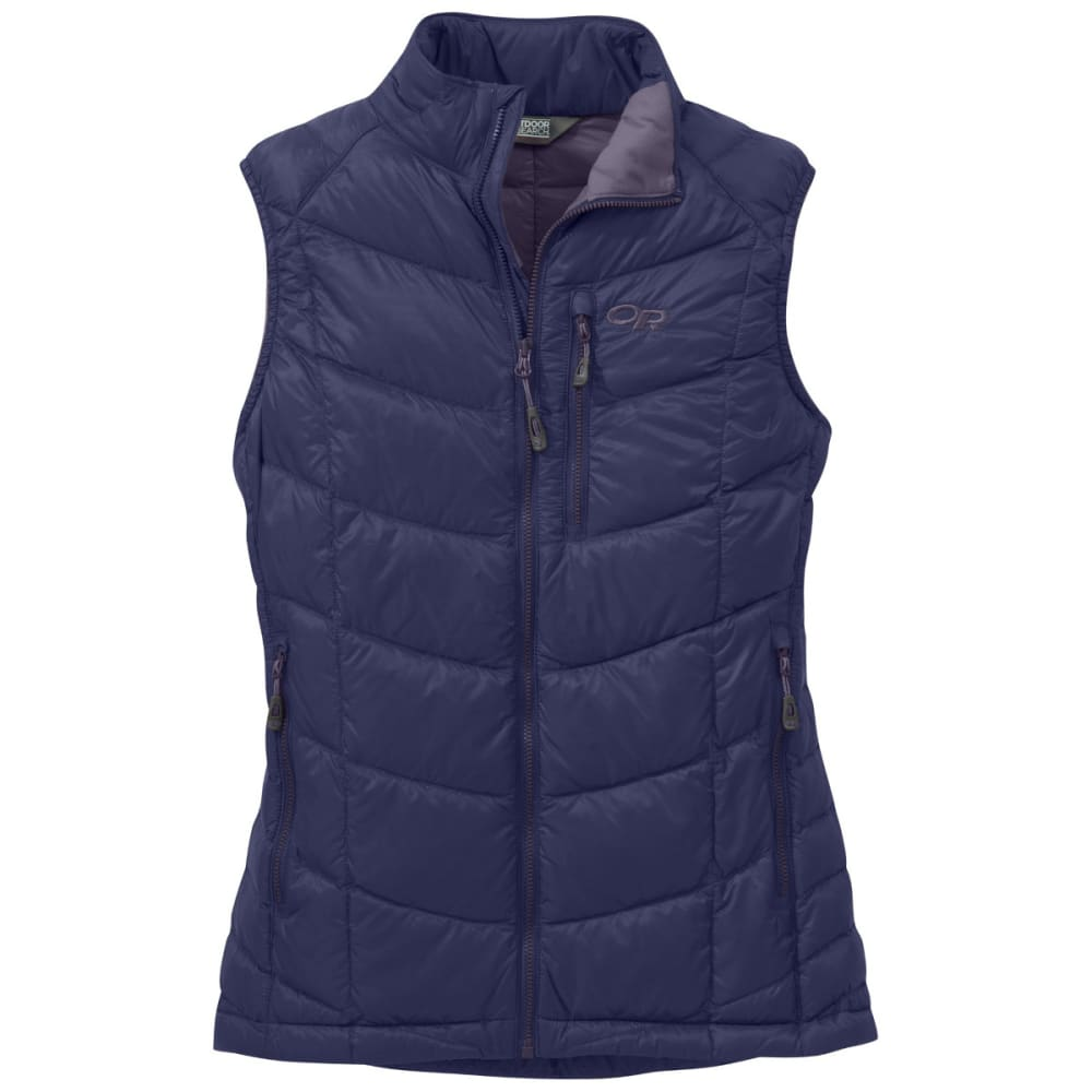 OUTDOOR RESEARCH Women's Sonata Down Vest - BLUE VIOLET/FIG