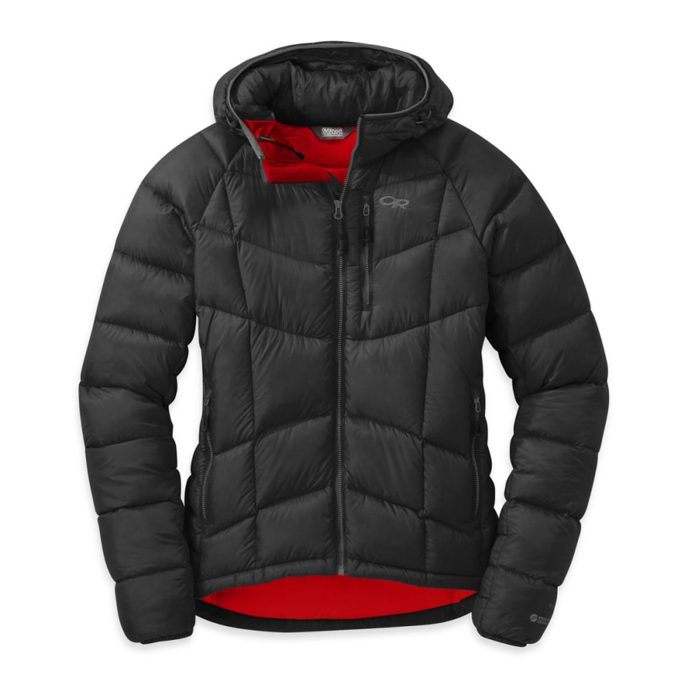 OUTDOOR RESEARCH Women's Sonata Ultra Hooded Down Jacket - BLACK