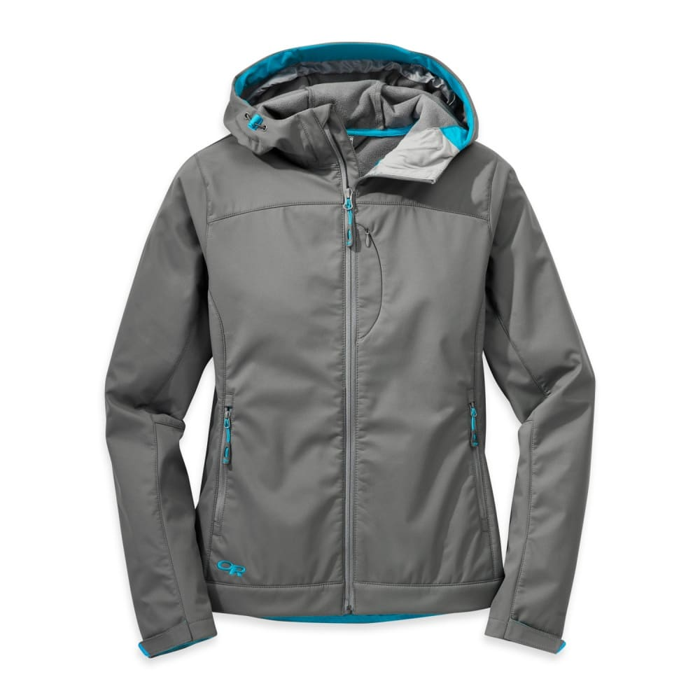 OUTDOOR RESEARCH Women's Transfer Hooded Jacket - PEWTER/TYPHOON
