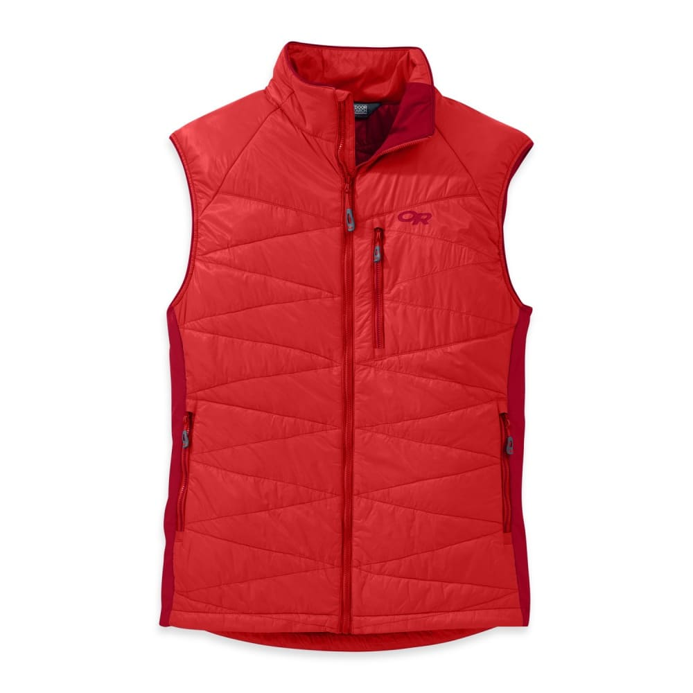 OUTDOOR RESEARCH Men's Cathode Vest - HOT SAUCE/AGATE