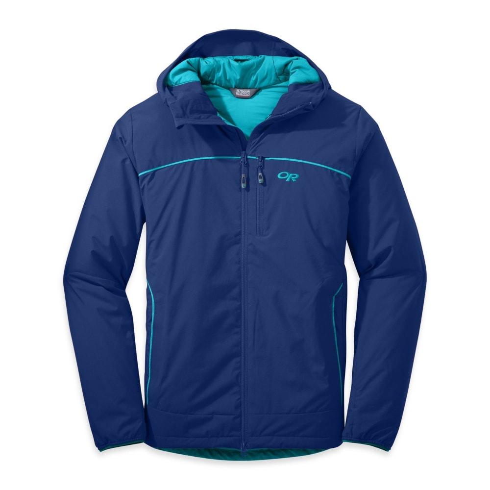 OUTDOOR RESEARCH Men's Razoredge Hooded Jacket - BALTIC/TYPHOON