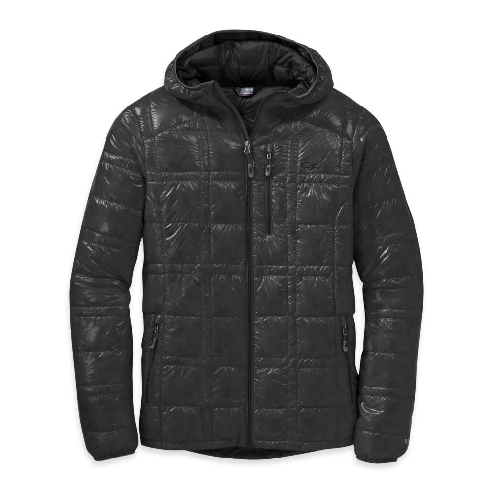 OUTDOOR RESEARCH Men's Filament Hooded Down Jacket - BLACK