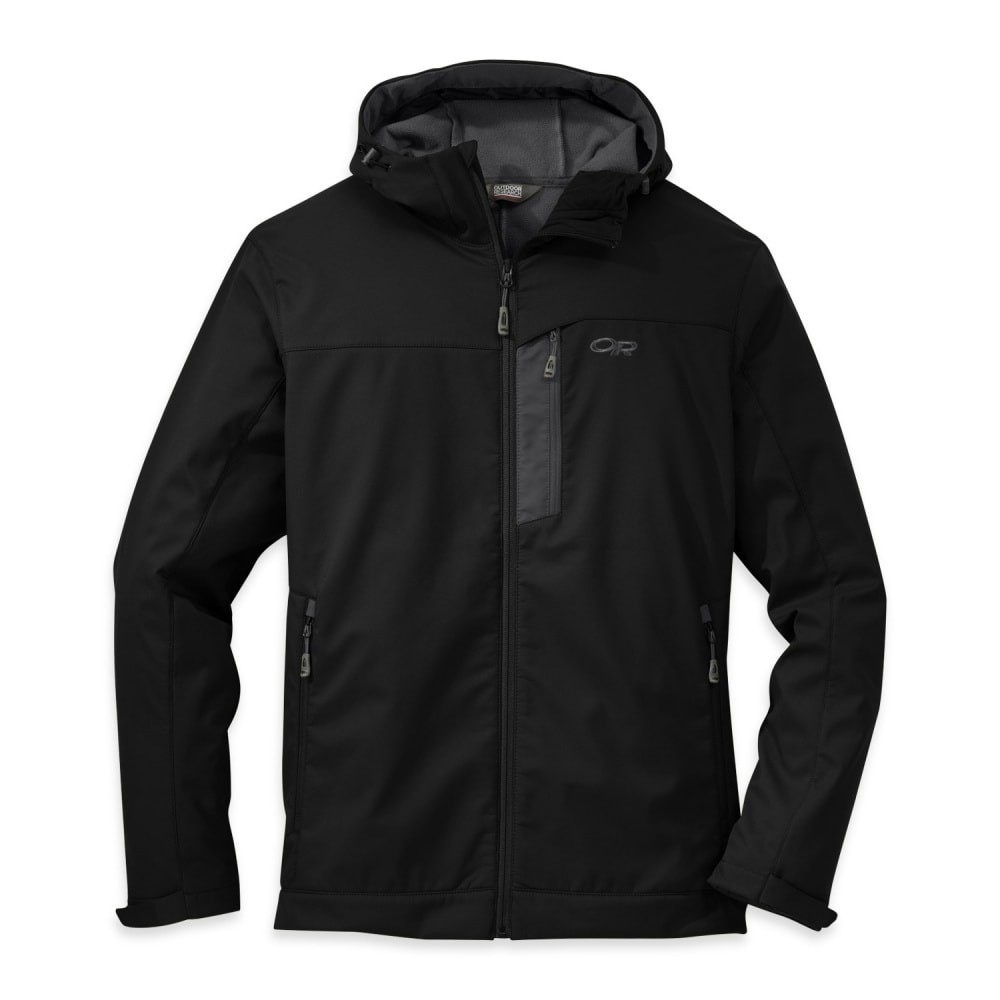 OUTDOOR RESEARCH Men's Transfer Hooded Jacket - BLACK