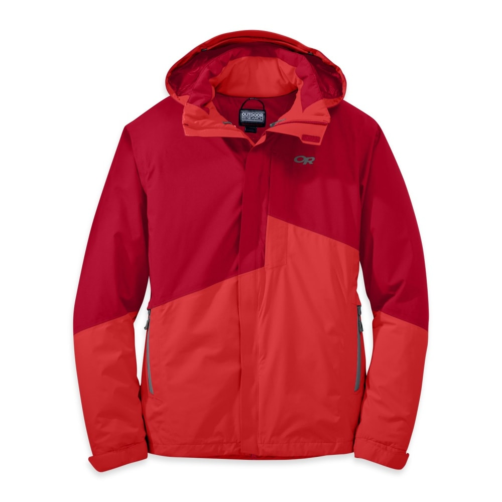 OUTDOOR RESEARCH Men's Offchute Jacket - AGATE/HOT SAUCE