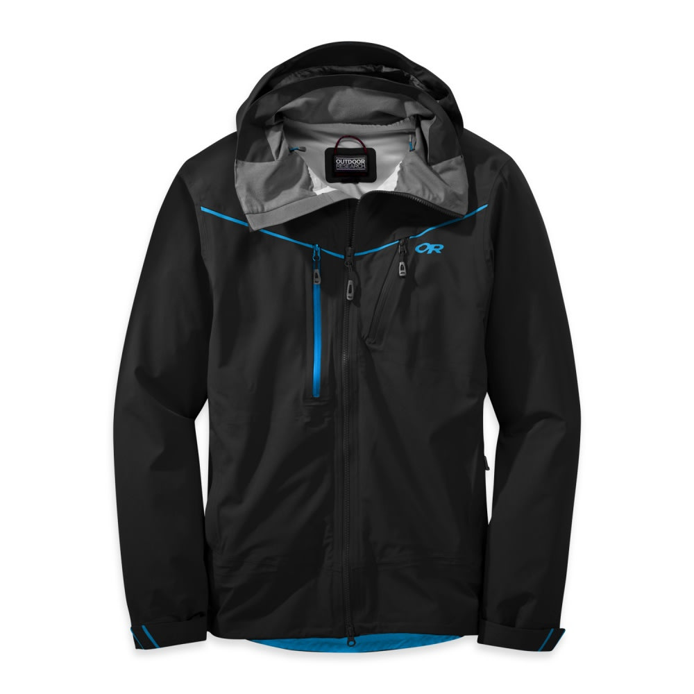 OUTDOOR RESEARCH Men's Skyward Jacket - BLACK/TAHOE