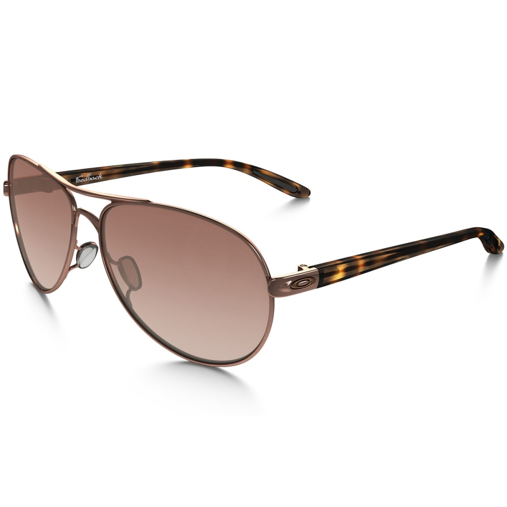 OAKLEY Women's Feedback Sunglasses, Rose Gold - Rose gold w/VR50 Bro