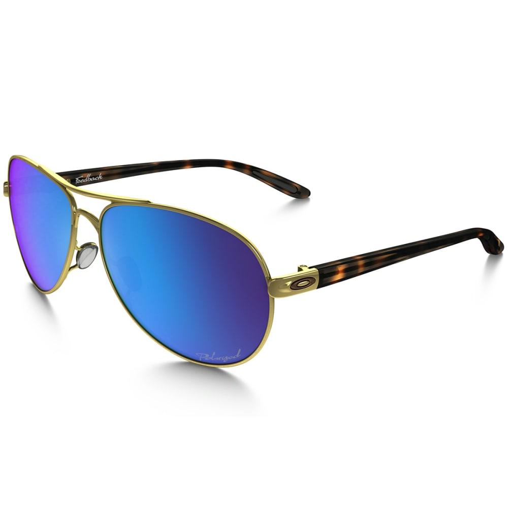 OAKLEY Women's Feedback Sunglasses, Polished Gold