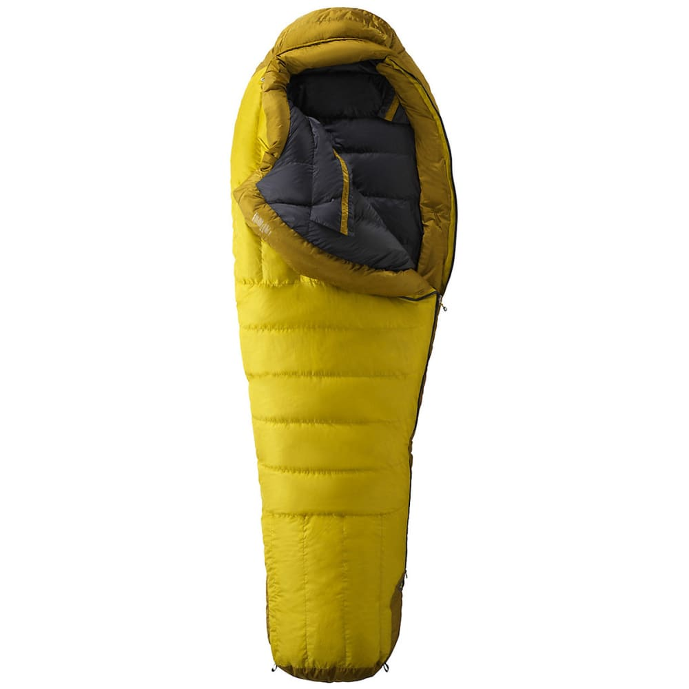 MARMOT Col MemBrain -20 Sleeping Bag, Regular - VAPOR YELLOW/GREEN