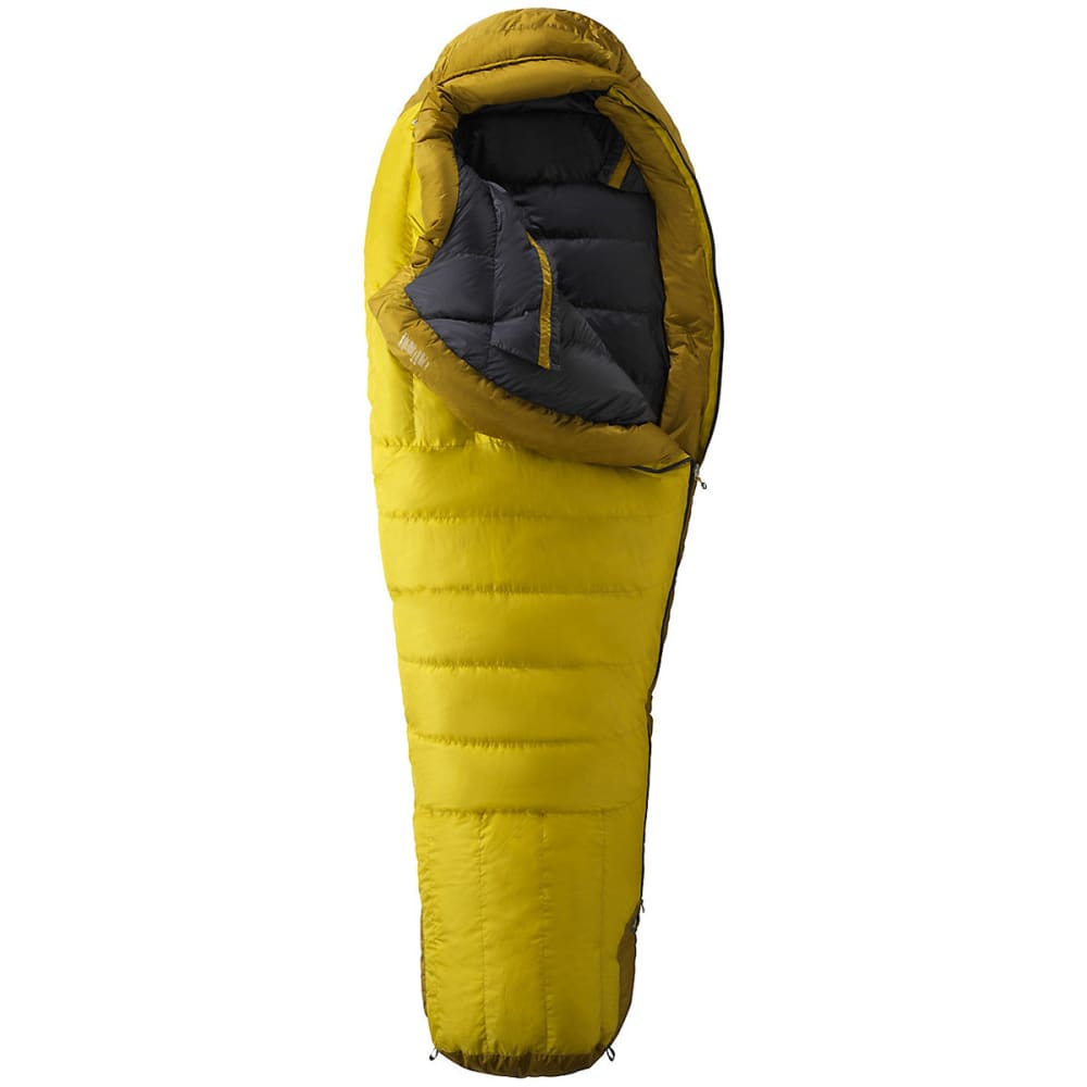 MARMOT Col MemBrain -20 Sleeping Bag, Long - YELLOW VAPOR/GREEN