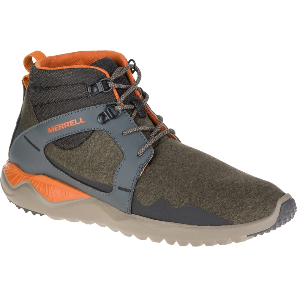MERRELL Men's 1SIX8 Mid, Dusty Olive - DUSTY OLIVE