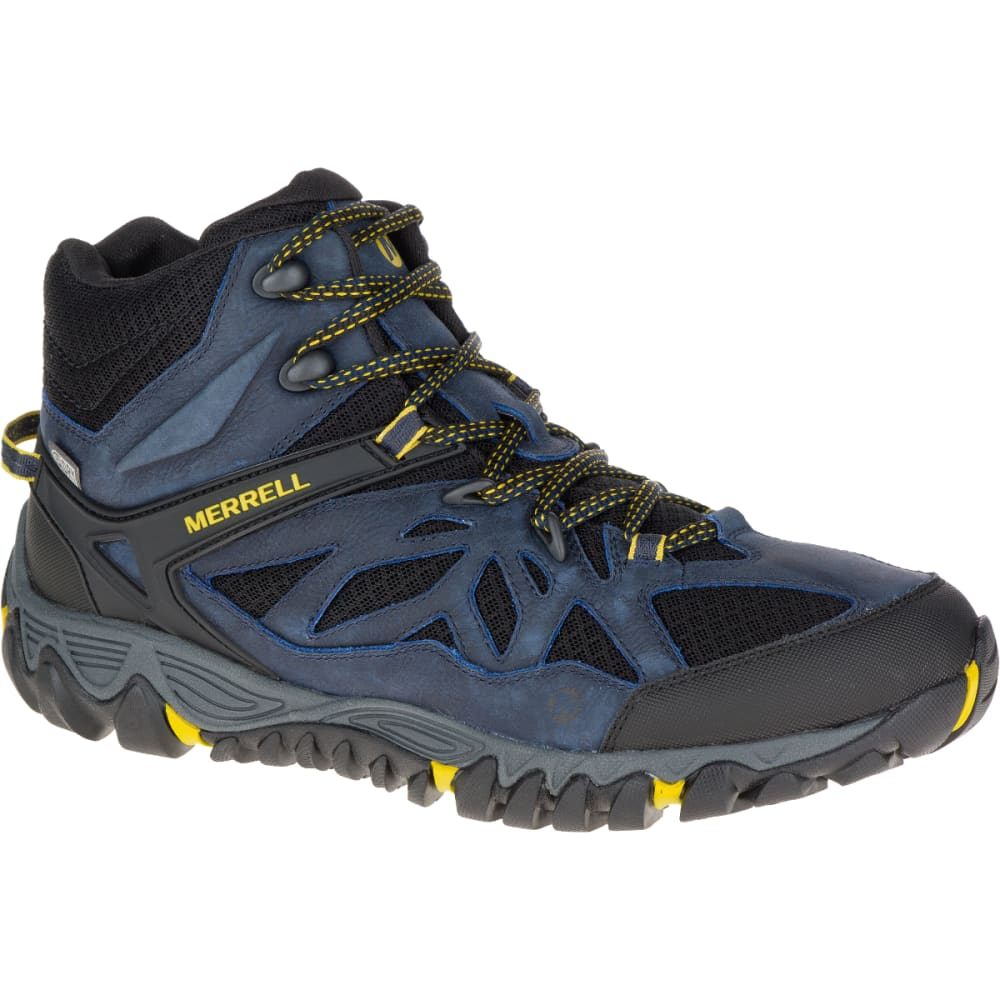 MERRELL Men's All Out Blaze Ventilator Mid Waterproof Hiking Shoes, Sodalite - SODALITE