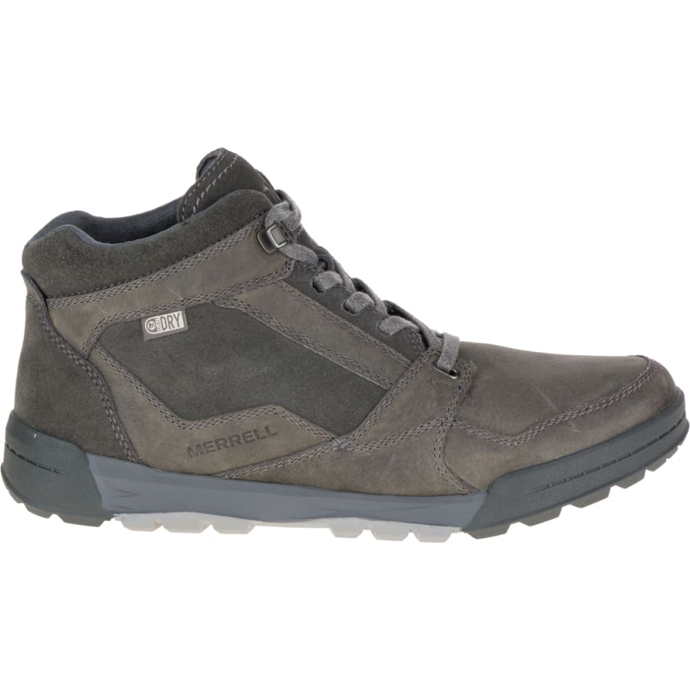MERRELL Men's Berner Mid Waterproof Sneaker, Castle Rock - GRANITE