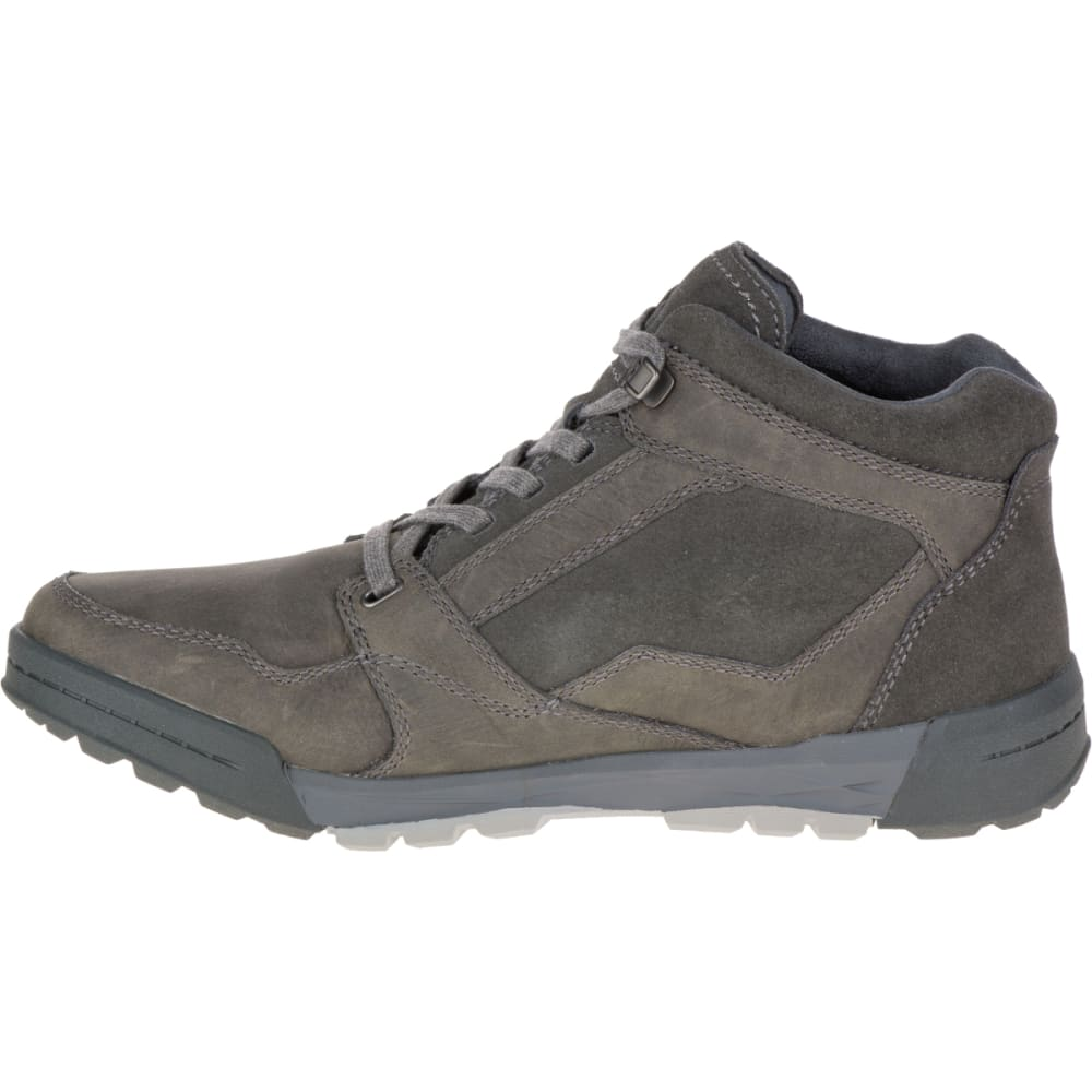 ... MERRELL Men's Berner Mid Waterproof Sneaker, Castle Rock - GRANITE  ...