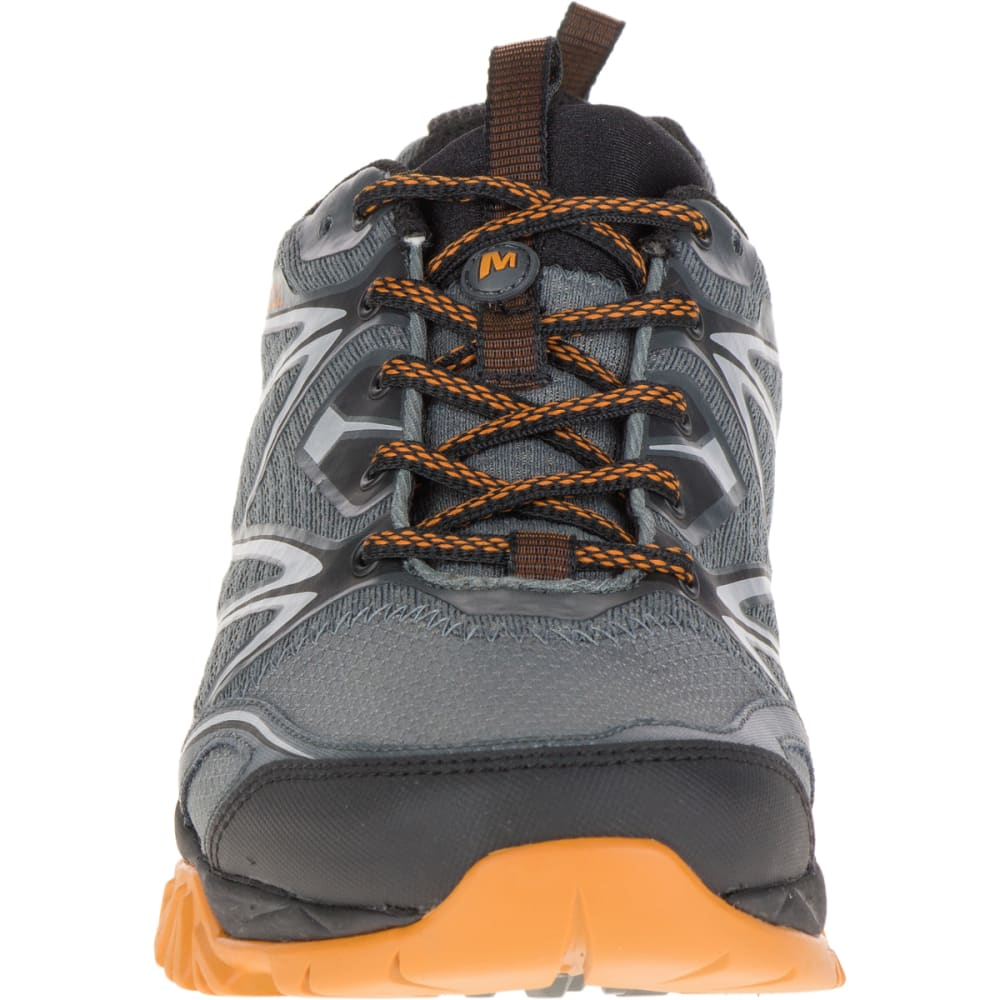 MERRELL Men's Capra Bolt Hiking Shoes, Grey/Orange - GREY/ORANGE