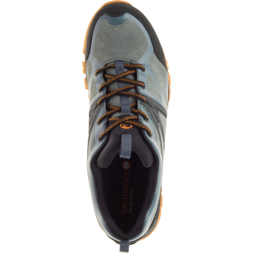 MERRELL Men's Capra Bolt Leather Waterproof Hiking Shoes, Dark Slate - DARK SLATE