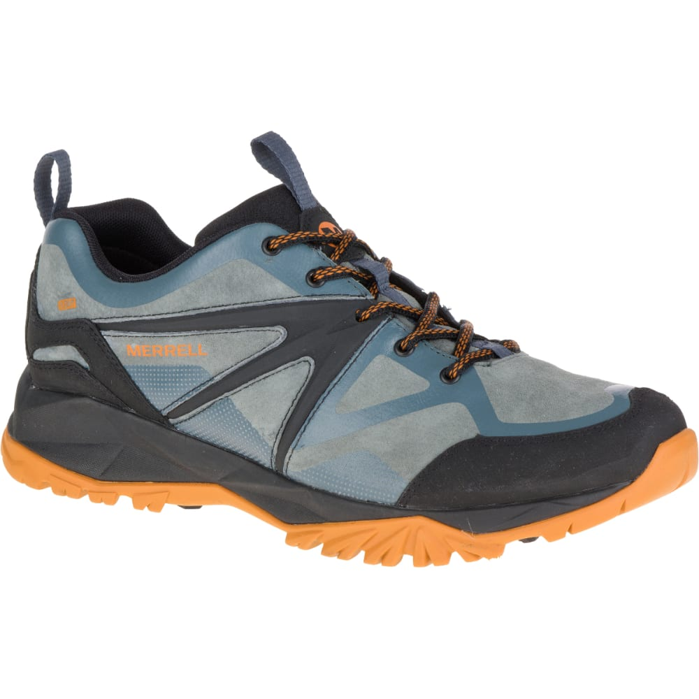MERRELL Men's Capra Bolt Leather Waterproof Hiking Shoes, Dark Slate - DARK SLATE