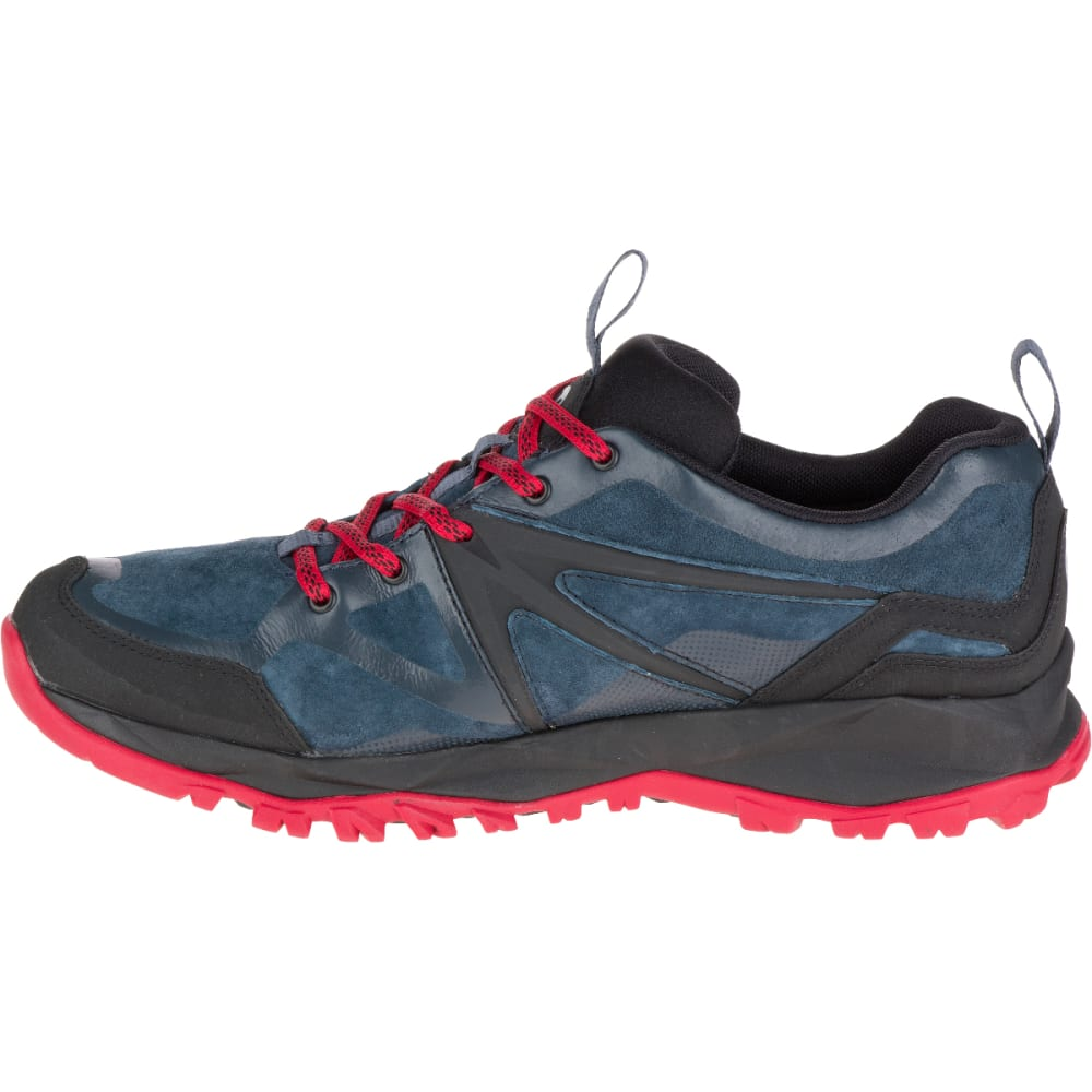 MERRELL Men's Capra Bolt Leather Waterproof Hiking Shoes, Navy - NAVY
