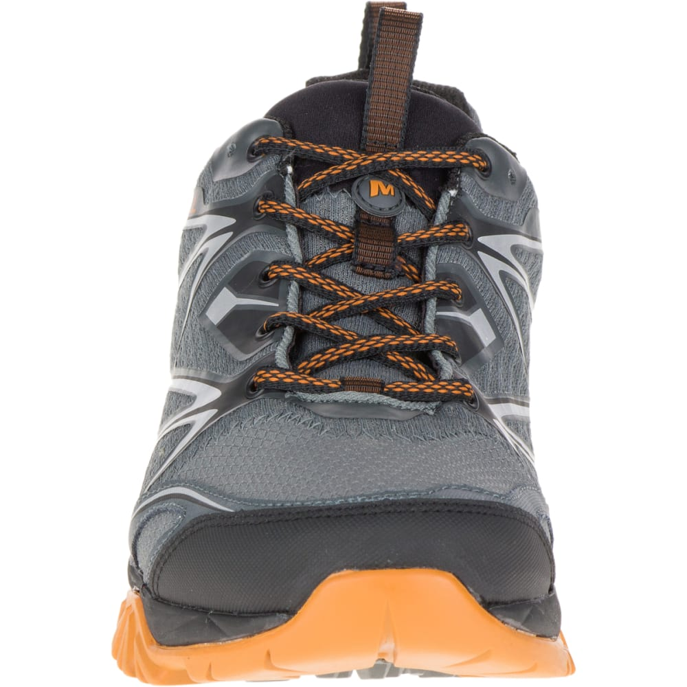 MERRELL Men's Capra Bolt Waterproof Hiking Shoes, Grey/Orange - GREY/ORANGE
