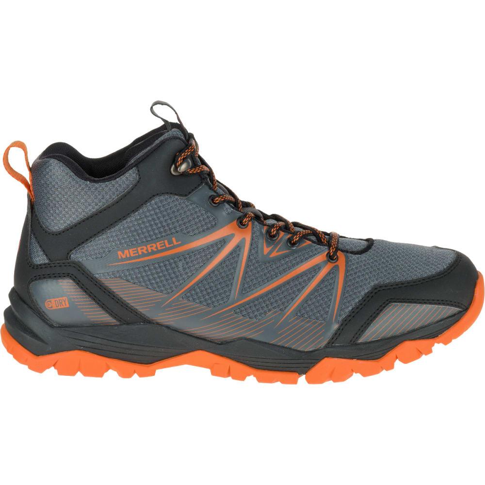 ... MERRELL Men's Capra Rise Mid Waterproof Hiking Shoes, Castle Rock  ...