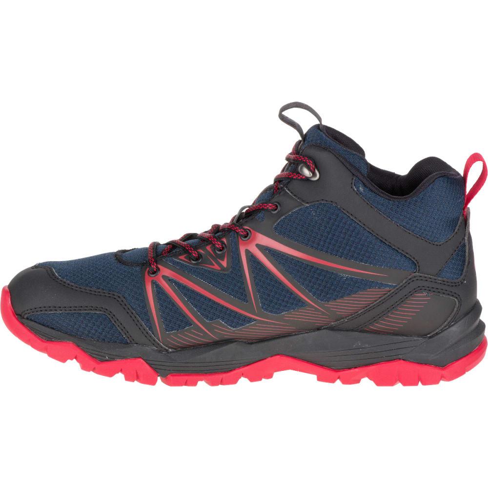 MERRELL Men's Capra Rise Mid Waterproof Hiking Shoes, Navy - NAVY