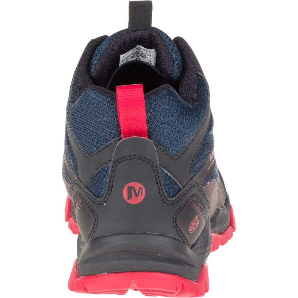 ... MERRELL Men's Capra Rise Mid Waterproof Hiking Shoes, Navy - ...