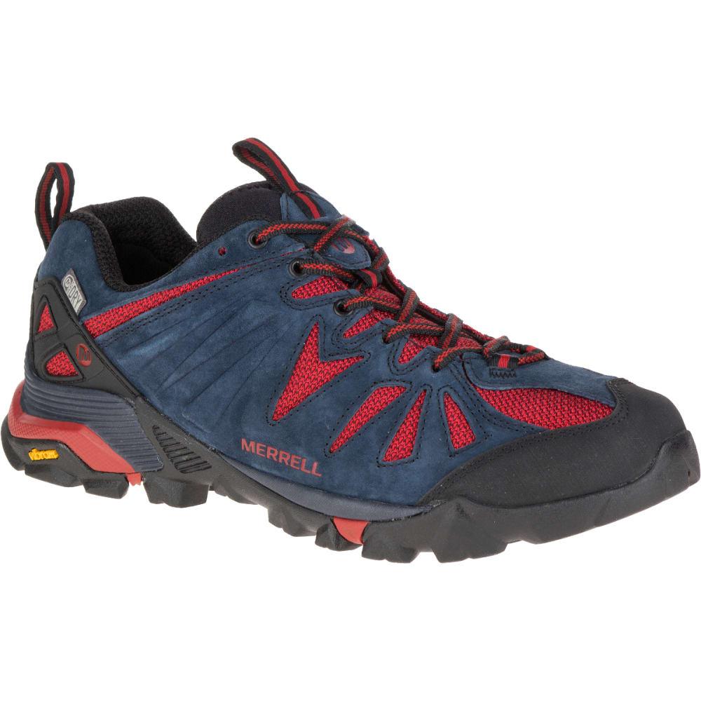 MERRELL Men's Capra Waterproof Hiking Shoes, Navy - NAVY