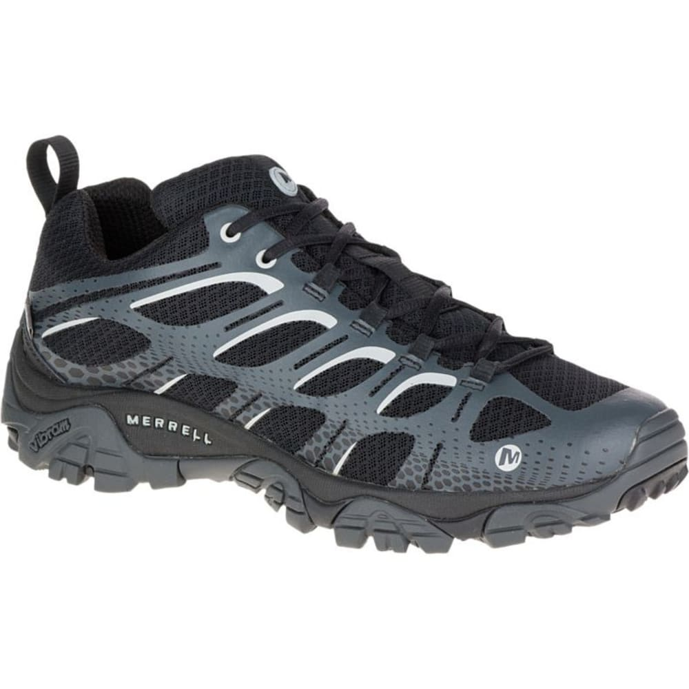 MERRELL Men's Moab Edge Waterproof Sneaker, Black - BLACK