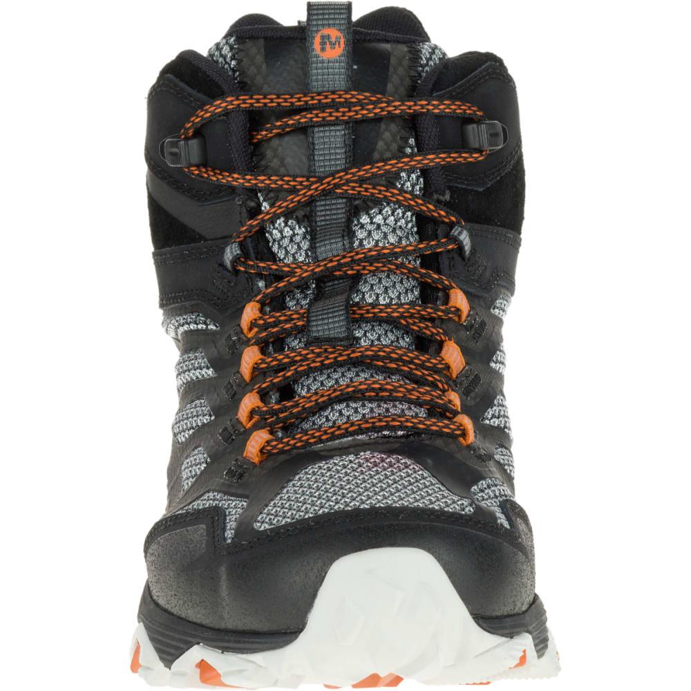 MERRELL Men's Moab FST Mid Waterproof Shoes, Black - BLACK