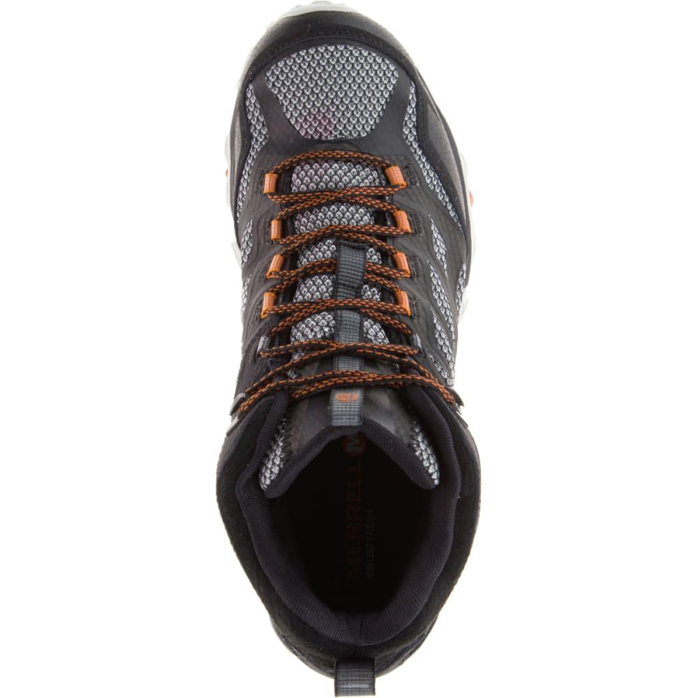 MERRELL Men's Wide Moab FST Mid Waterproof Shoes, Black - BLACK