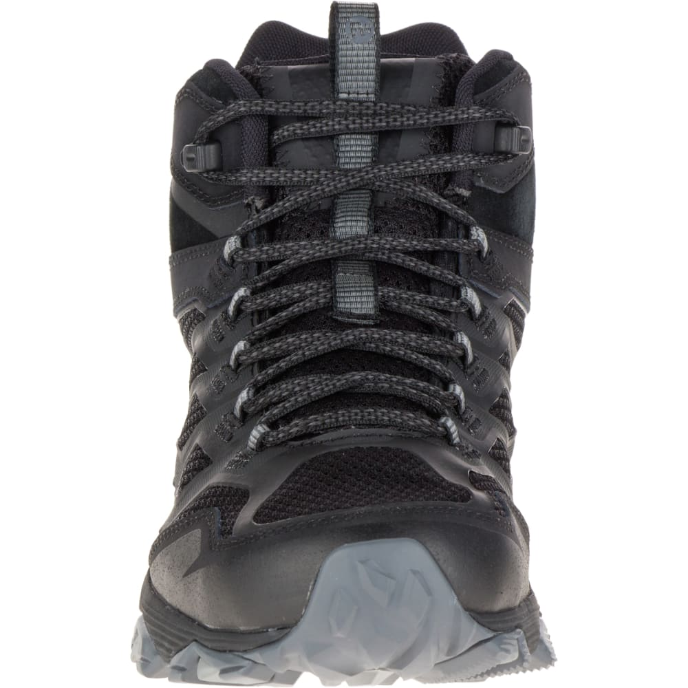 MERRELL Men's Moab FST Mid Waterproof Hiking Boots, Noire - NOIRE