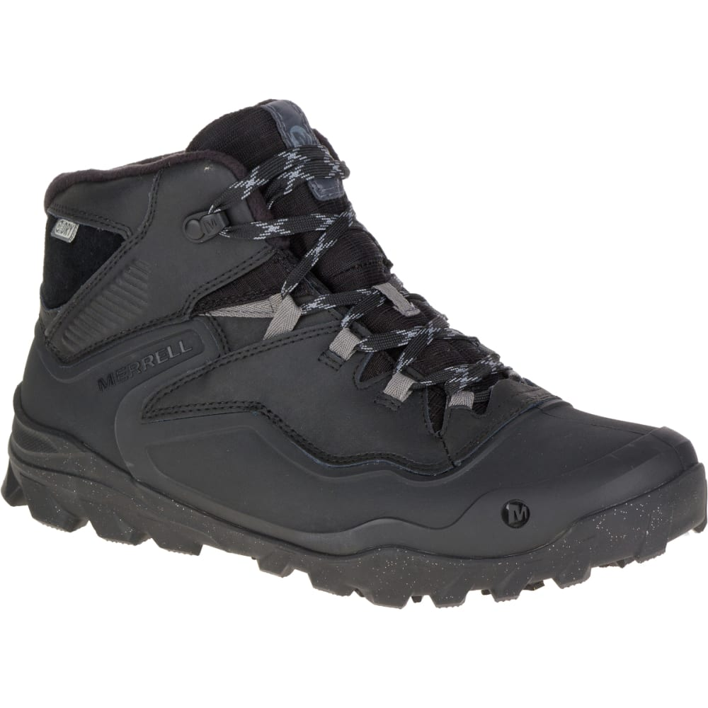 MERRELL Men's Overlook 6 Ice+ Waterproof Boots, Black - BLACK