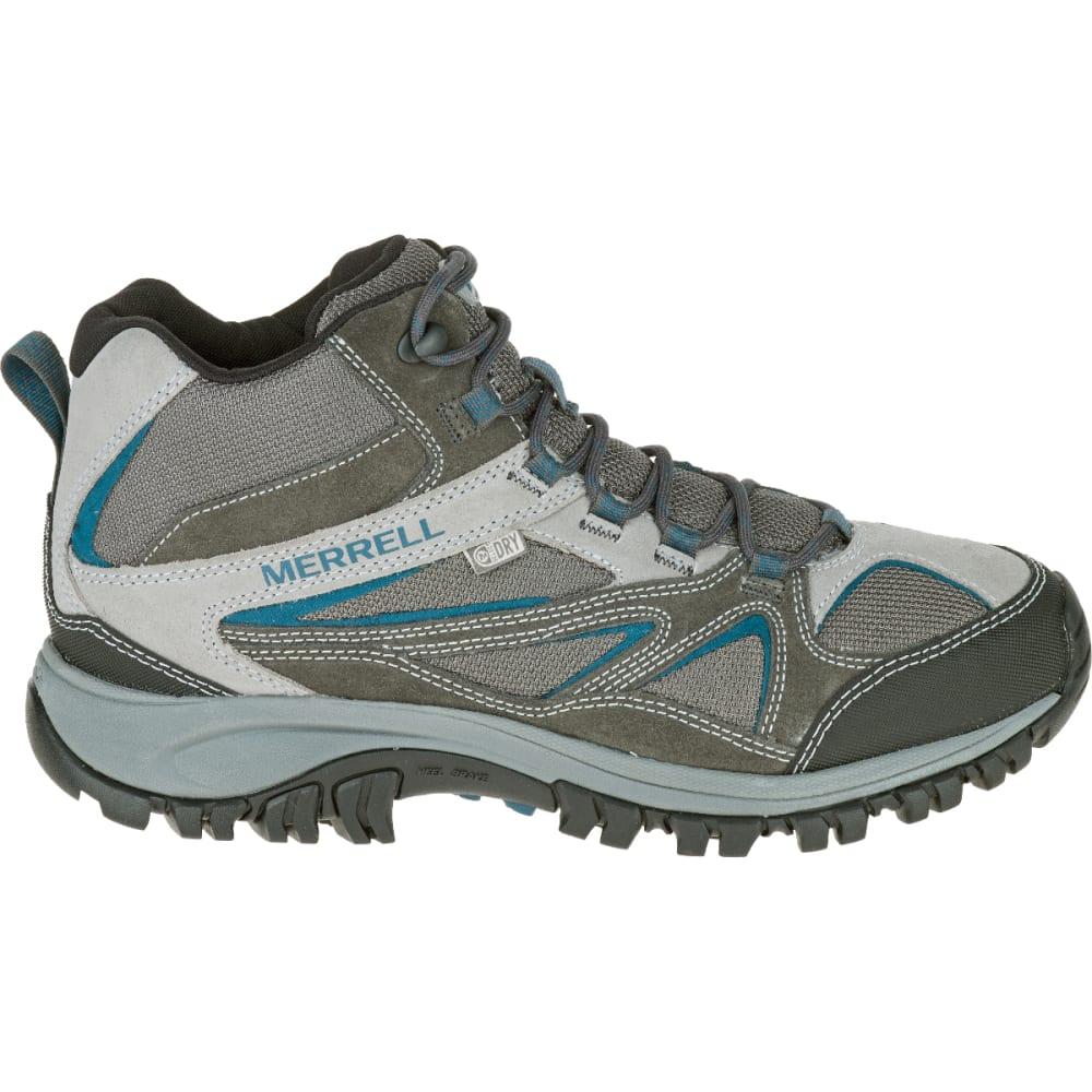 MERRELL Men's Phoenix Bluff Mid Waterproof Hiking Boot, Grey, Wide - GREY