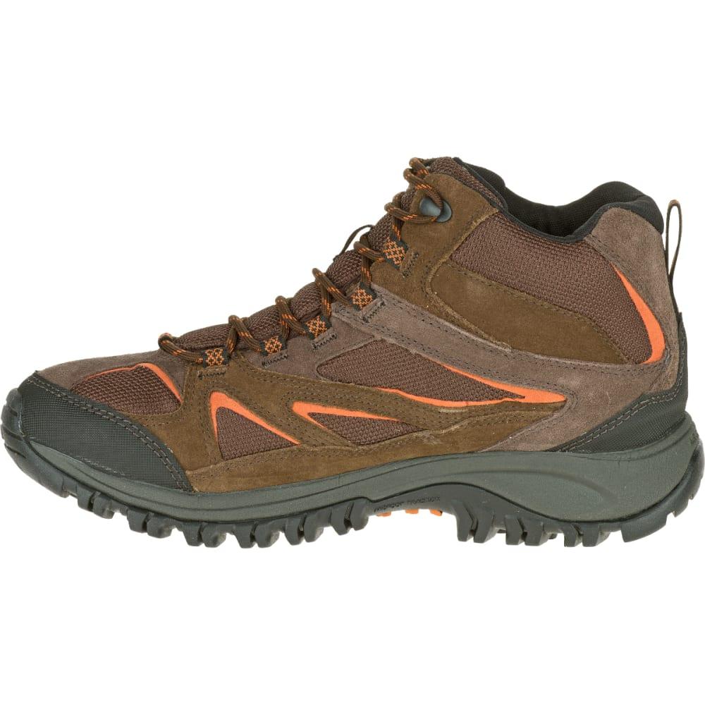 MERRELL Men's Phoenix Bluff Mid Waterproof Hiking Boot, Dark Brown - DARK BROWN