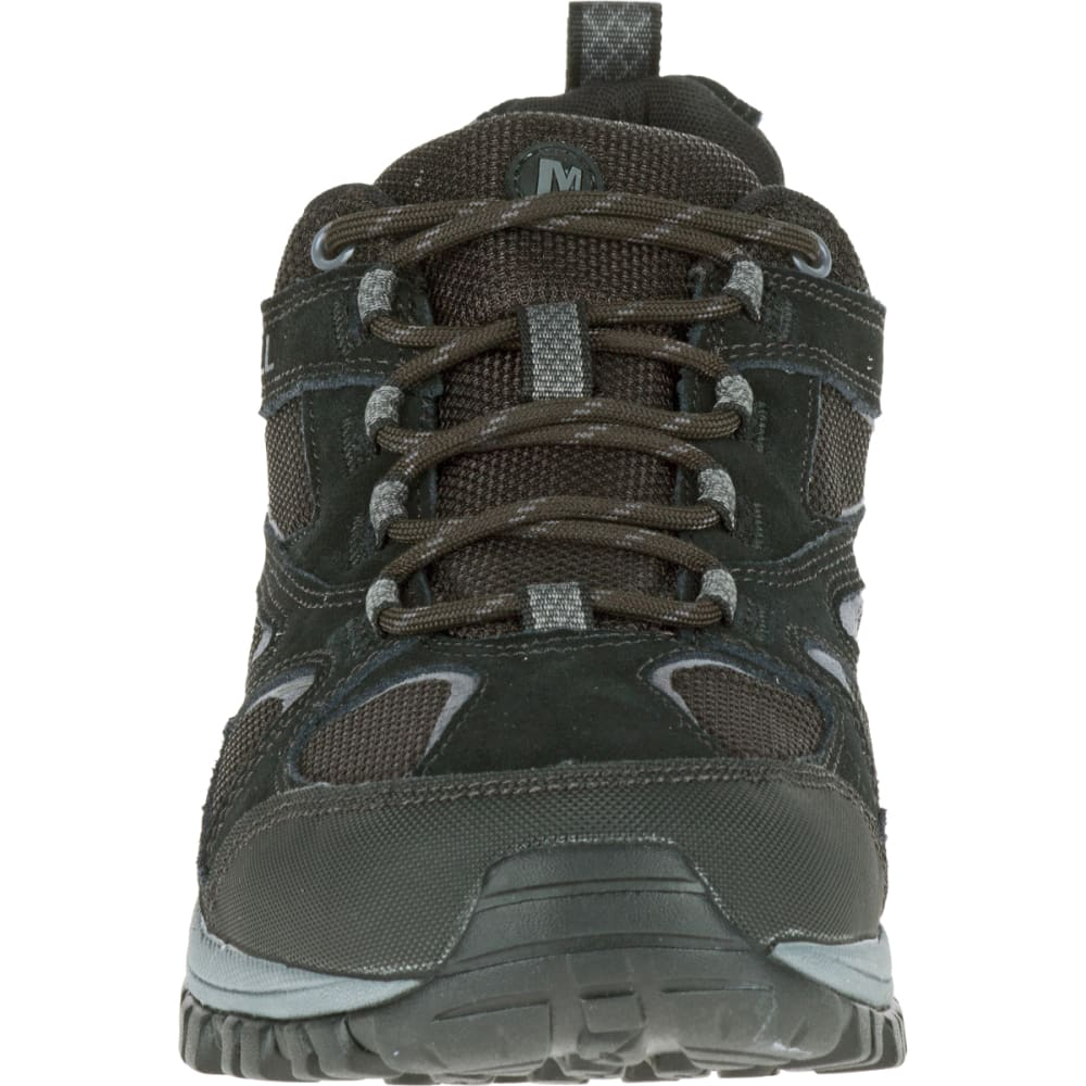 MERRELL Men's Phoenix Bluff Waterproof Hiking Shoe, Black, Wide - BLACK