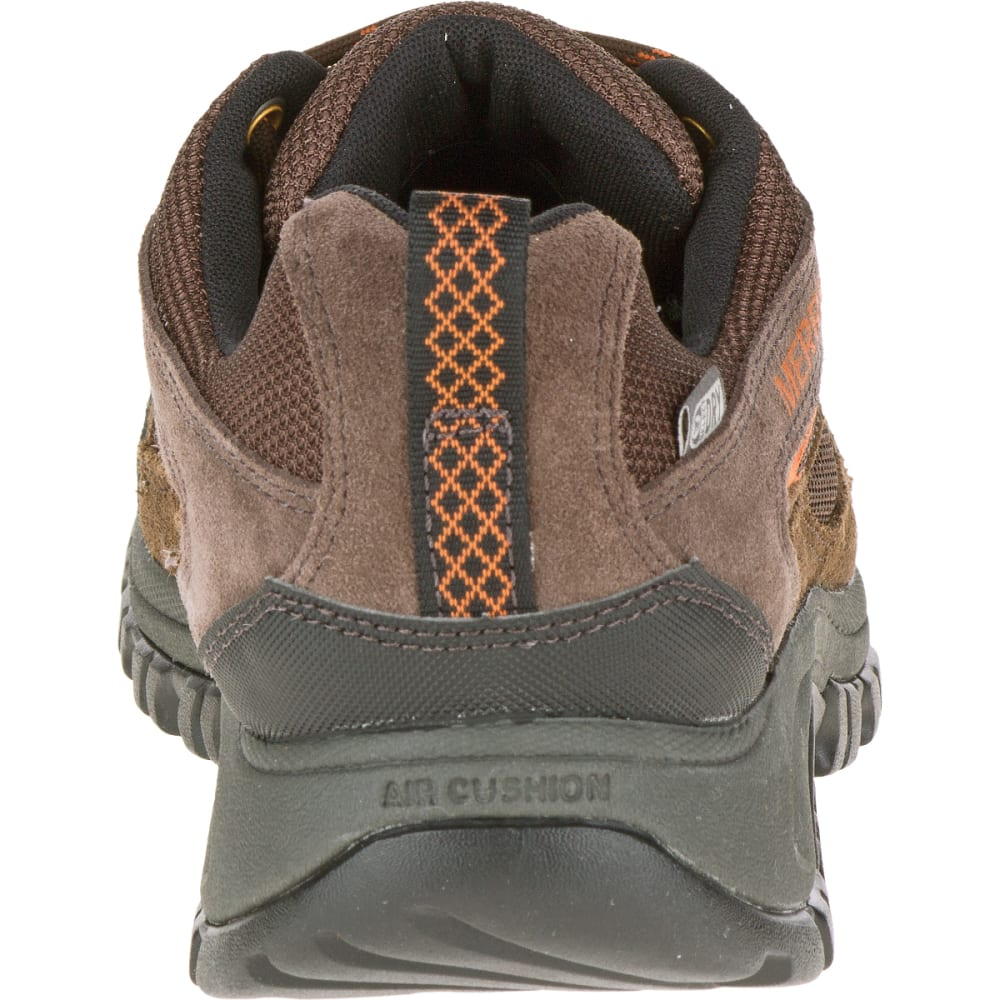 MERRELL Men's Phoenix Bluff Waterproof Hiking Shoe, Dark Brown, Wide - DARK BROWN