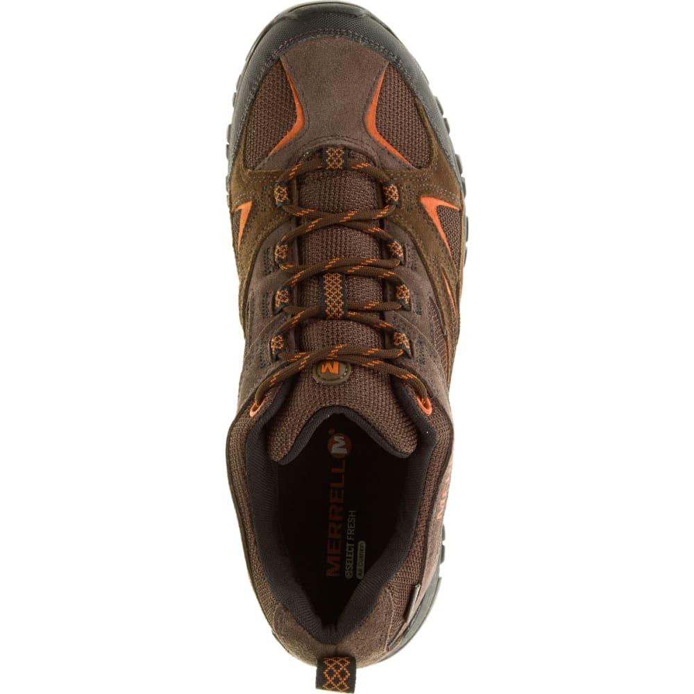 MERRELL Men's Phoenix Bluff Waterproof Hiking Shoe, Dark Brown, Wide - DARK BROWN