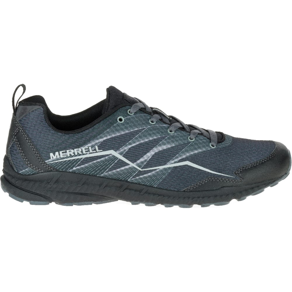 MERRELL Men's Trail Crusher Running Shoe, Granite/Black - GRANITE/BLACK